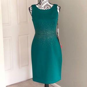 Calvin Klein Formal Teal Dress NWT